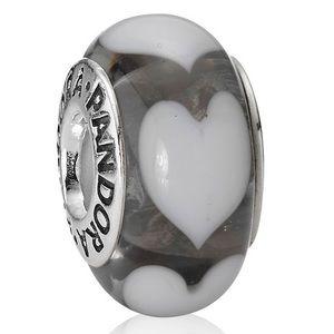 Three Pandora Black Murano Glass Charms